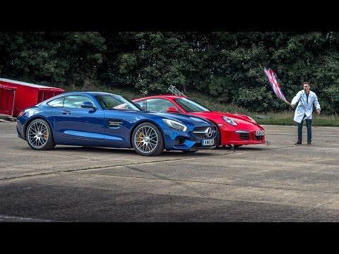 Mercedes AMG GTS vs Porsche 911 Carrera GTS - Top Gear: Drag Races