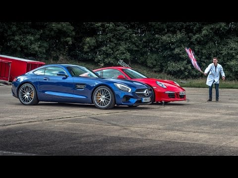 Mercedes AMG GTS vs Porsche 911 Carrera GTS - Top Gear: Drag Races