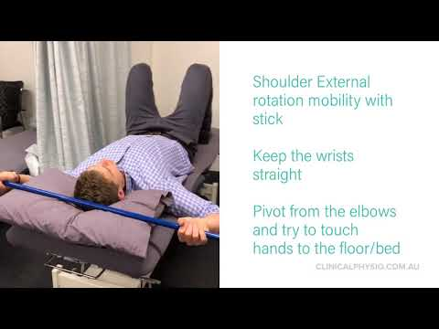 External rotation mobility for shoulder stiffness