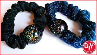 Резиночка для волос с украшением из эпоксидной смолы/DIY/Мастер класс