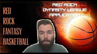 Red Rock Fantasy Basketball Dynasty League Application
