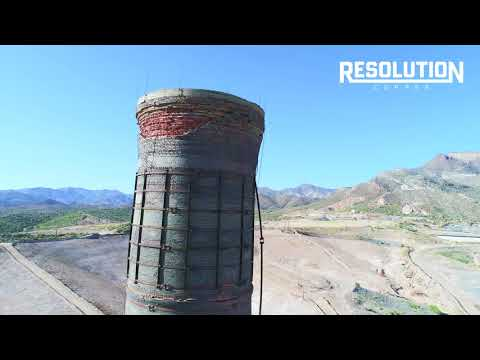Resolution Copper West Plant reclamation: Magma smelter stack