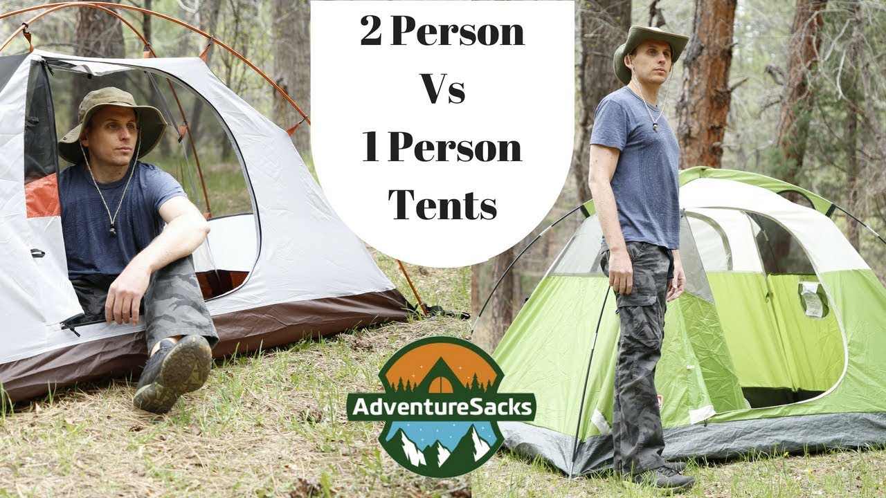 1 Person Tent vs 2 Person Tent (Coleman Sundome 2 Person vs ALPS Mountaineering Lynx 1 Person Tent)  sc 1 st  YouTube & 1 Person Tent vs 2 Person Tent (Coleman Sundome 2 Person vs ALPS ...