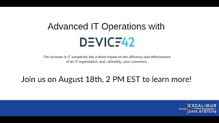 Advanced IT Operations with Device42