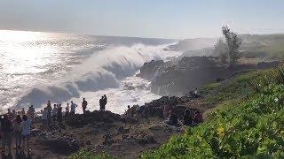 Grande houle australe à la Réunion du 18 août 2019