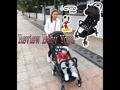review-stroller-baby-yoya-mickey-mouse-//-stroller-cabin-size-murah