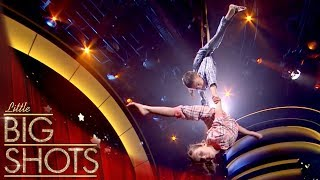 The Amazing 7 & 10 Year Old Aerial Acrobats Duo!  | Little Big Shots