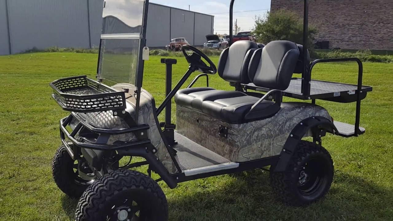 Ez Go Txt Electric Golf Cart Fully Custom Designed With Custom Tires Rims 4x4 More