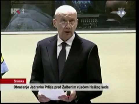 Posljednja minuta obraćanja Jadranka Prlića u žalbenom postupku pred Haškim sudom