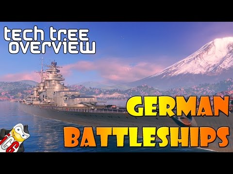 World of Warships - Tech Tree Overview - German Battleships