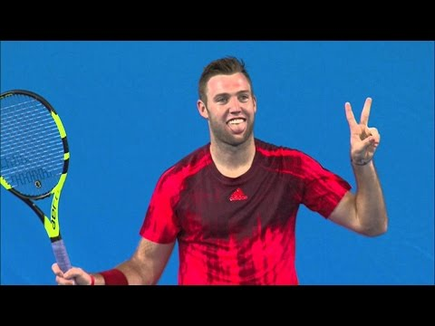 Jack Sock vs Donald Young 1/2 FULL MATCH DELRAY BEACH OPEN 2017