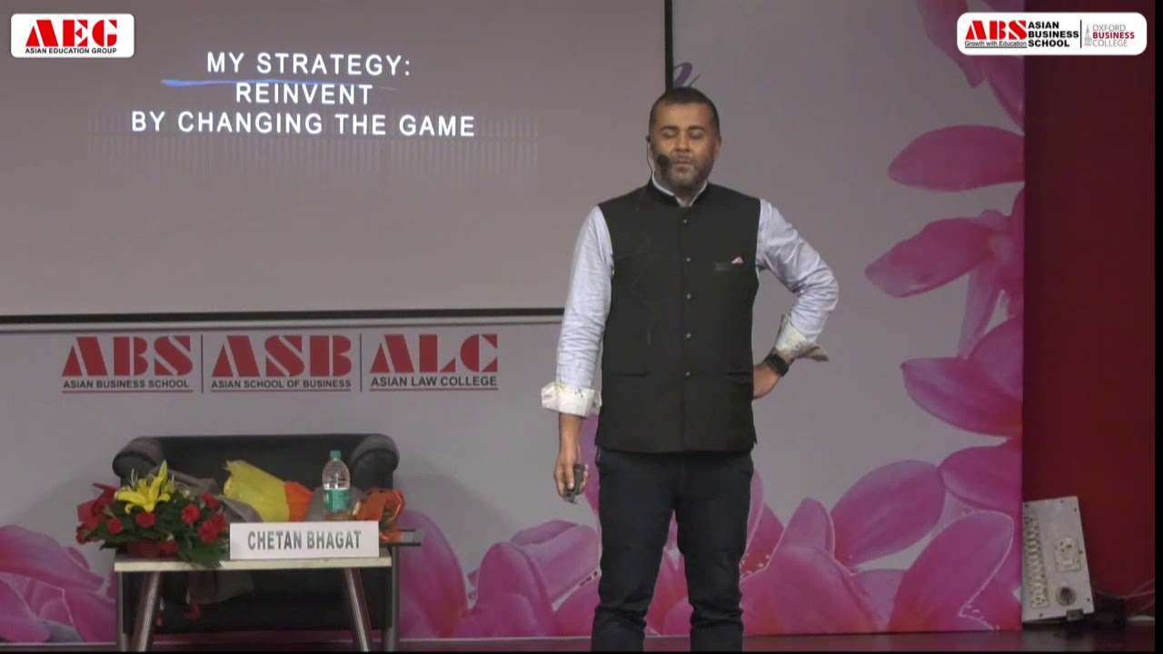Chetan Bhagat Session During ABS PGDM Orientation 2019
