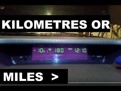 MITSUBISHI COLT multivizion display miles or kilometres