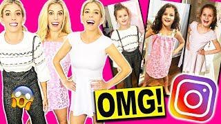 TRYING ON KIDS CLOTHING! RECREATING HAYLEY LEBLANC