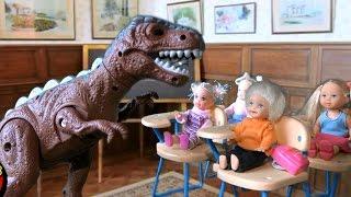 Сериал Барби дети цветы жизни Динозавр Учитель в Школе куклы Барби видео на русском