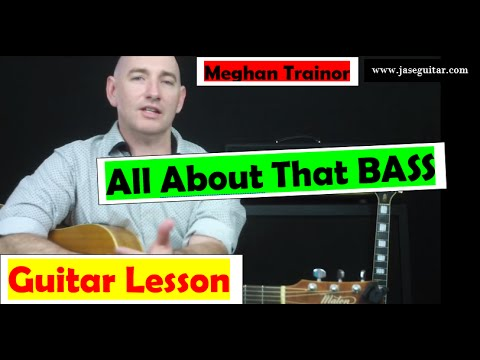 "How To Play ""All About That Bass"" On Guitar By ★ Meghan Trainor ★ EASY!"