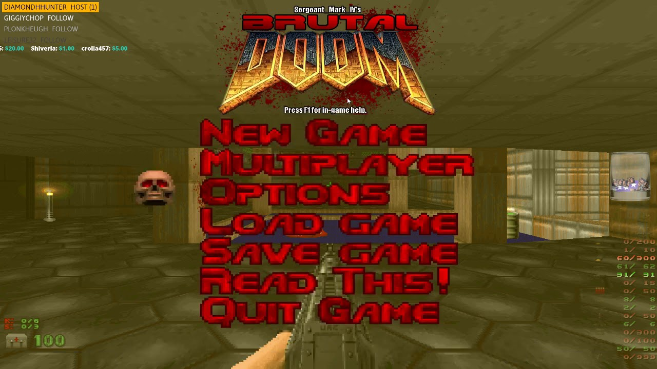 Brutal Doom   [PC] Playing through the Doom 1 campaign with the 'Brutal  Doom' addon  ( ¬‿¬)