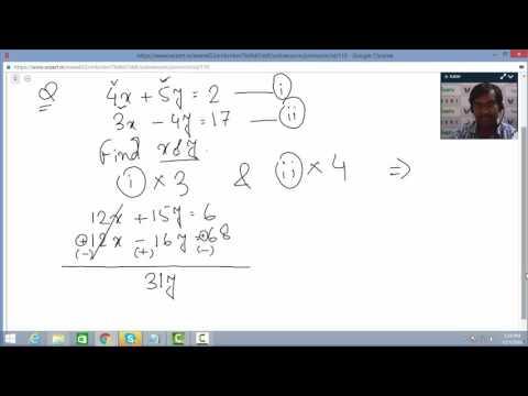 Simultaneous Linear Equation | Algebra | Wizert Tutor