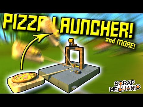 PIZZA LAUNCHER, SPINNING SCYTHE, and MORE ! (Discord Speed Builds Ep 7) - Scrap Mechanic Gameplay