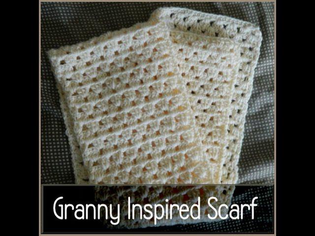 Crochet Granny Square Inspired Scarf