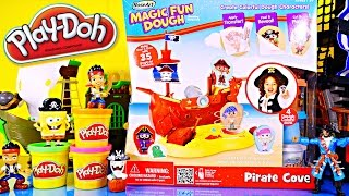 Play Doh Videos Magic Fun Dough Playsets Pirate Cove Ship Kid Tattoos Toys Playdough Creations Fun