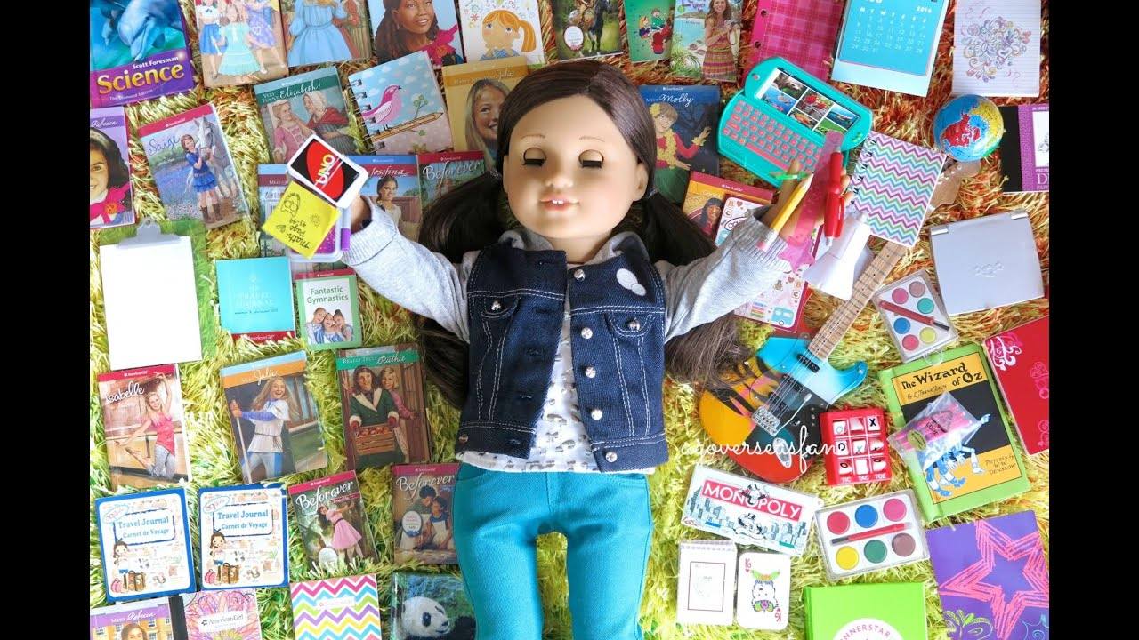 american girl doll school supplies haul - Ameeican Girl Doll