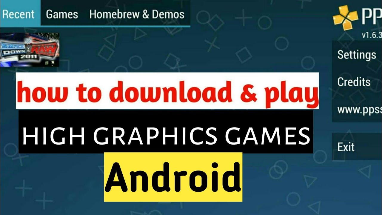 How To Download Play Best High Graphics Games In Android Youtube
