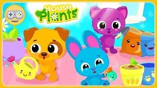 Милые крошки Котенок, Зайчик и Щенок растят свой маленький Домашний Сад * мультик игра для детей