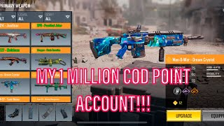 Showing off my INSANE 1 MILLION COD Point Account!! COD Mobile 100 sub special