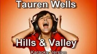 "Tauren Wells ""Hills and Valley"" BackDrop Christian Karaoke"