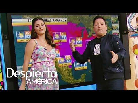Ana Patricia baila reggaeton con el reporte del tiempo de Raúl González