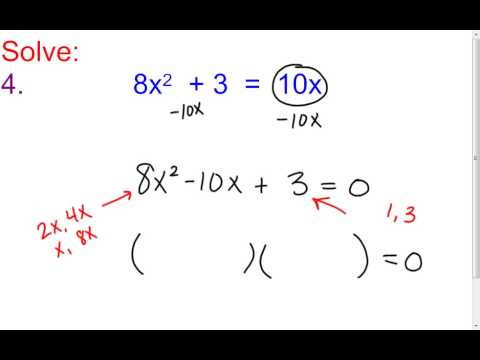 9 2 a factoring trinomials with and without gcf youtube