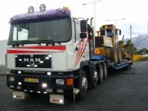 Dresser 850 in Greece  Transport by MAN Trucks
