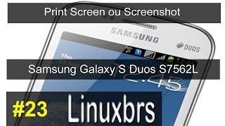 Samsung Galaxy S Duos GT - S7562 - Screenshot ou Print Screen da Tela - PT-BR