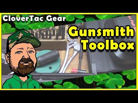 Gunsmithing Tools & Supplies - CloverTac Gun Toolbox -  AR15 Tools - Basic Gunsmithing Tools