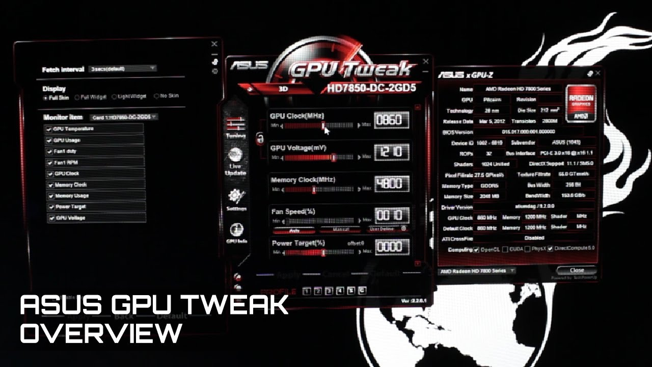 ASUS GPU Tweak Overview