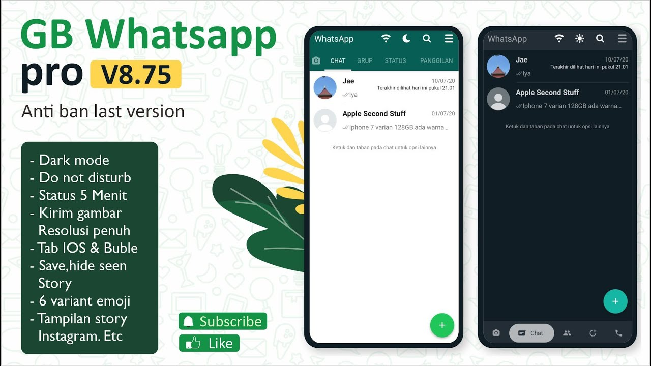 GB Whatsapp Pro V8.75 Whatsapp MOD Anti Ban 2020 (Last ...