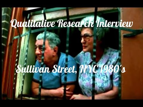 Qualitative Research Interview: Little Italy - Sullivan Street, New York City  (1980's)