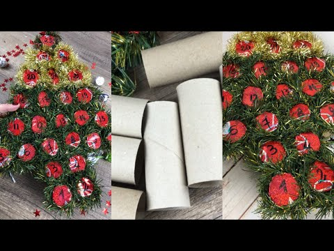 Tutorial FACILISSIMO easy CHRISTMAS DIY Advent Calendar With paper toilet roll