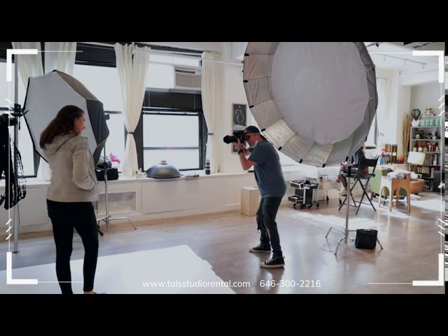 NYC Premium Photography Studio Rental, different rental space options starting at $25hr