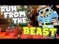 RUN FROM THE SNOWMAN i mean BEAST !! : Minecraft xbox