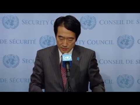 Yasuhisa Kawamura (Japan) on Central Africa - Security Council Media Stakeout (8 December 2017)