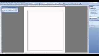 Создание таблицы в Word 2003