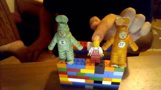 przybysze z matplanety odcinek 267 ludzik LEGO i kolorowy dom z klocki LEGO