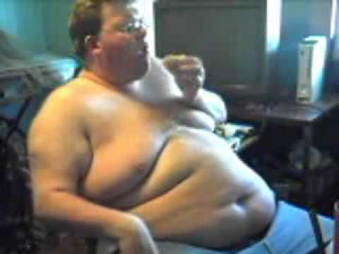 Fat Black Man Eating Burger 106