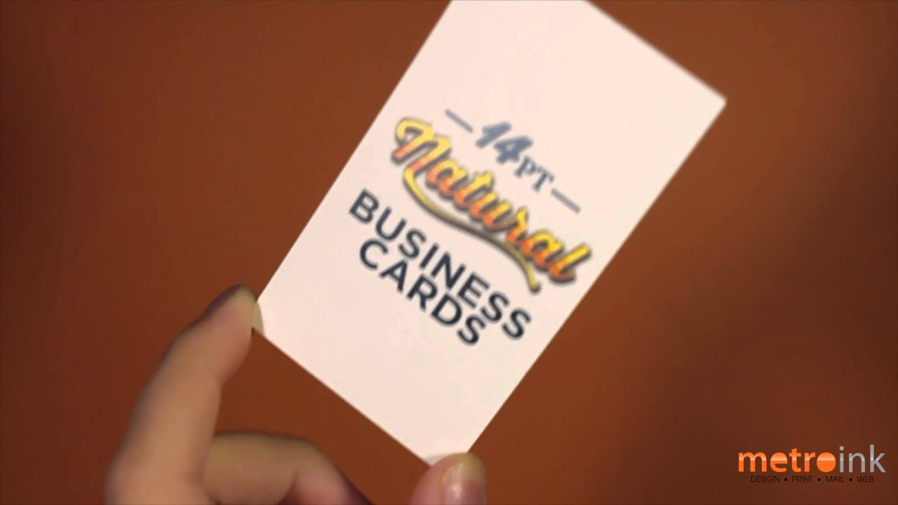 metroink 14pt natural business card youtube