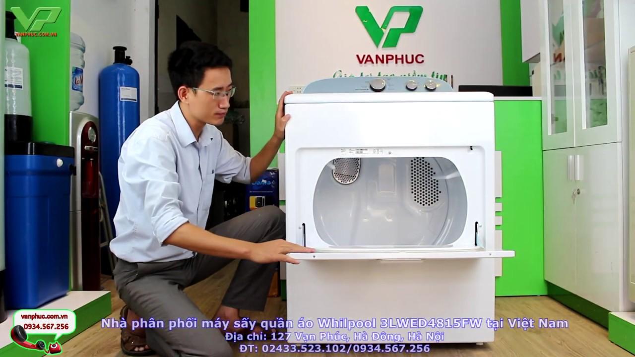 Máy sấy quần áo Whirlpool 3LWD4815FW nhập khẩu từ Mĩ