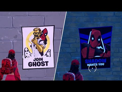 Deface GHOST Or SHADOW Recruitment Poster - Fortnite