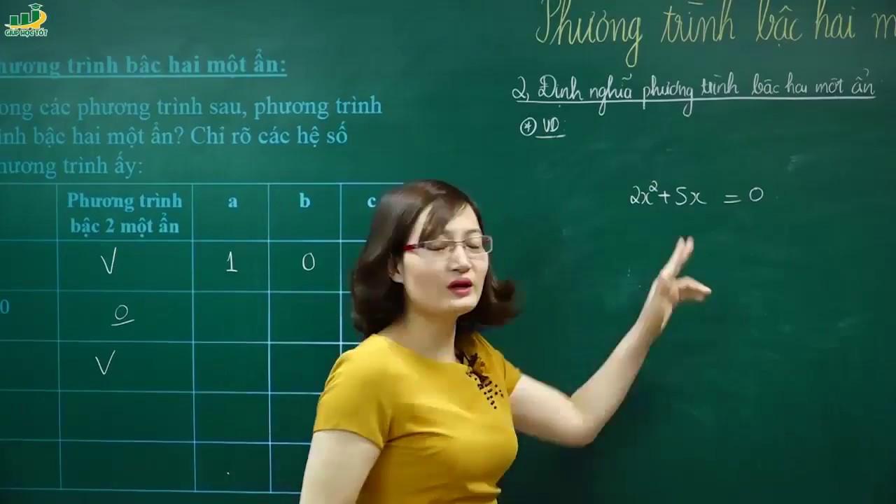 Toán lớp 9 – Bài giảng chuyên đề Phương trình bậc 2 một ẩn toán lớp 9 | Cô Tạ Thị Huyền Trang
