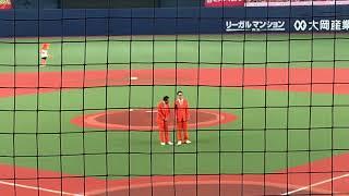2019.07.23 ナイツ 爆笑漫才 京セラドーム巨人戦